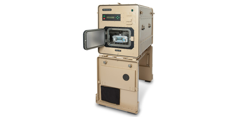 Custom case for mobile military medical sterilization station