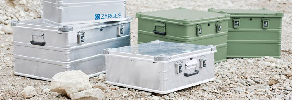 A set of Zarges hazmat custom cases