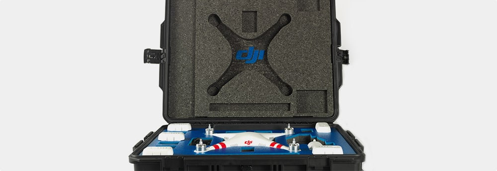 DJI Phantom inside a DroneHanger hard case
