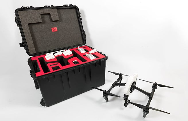 DroneHangar hard case with a quadcopter